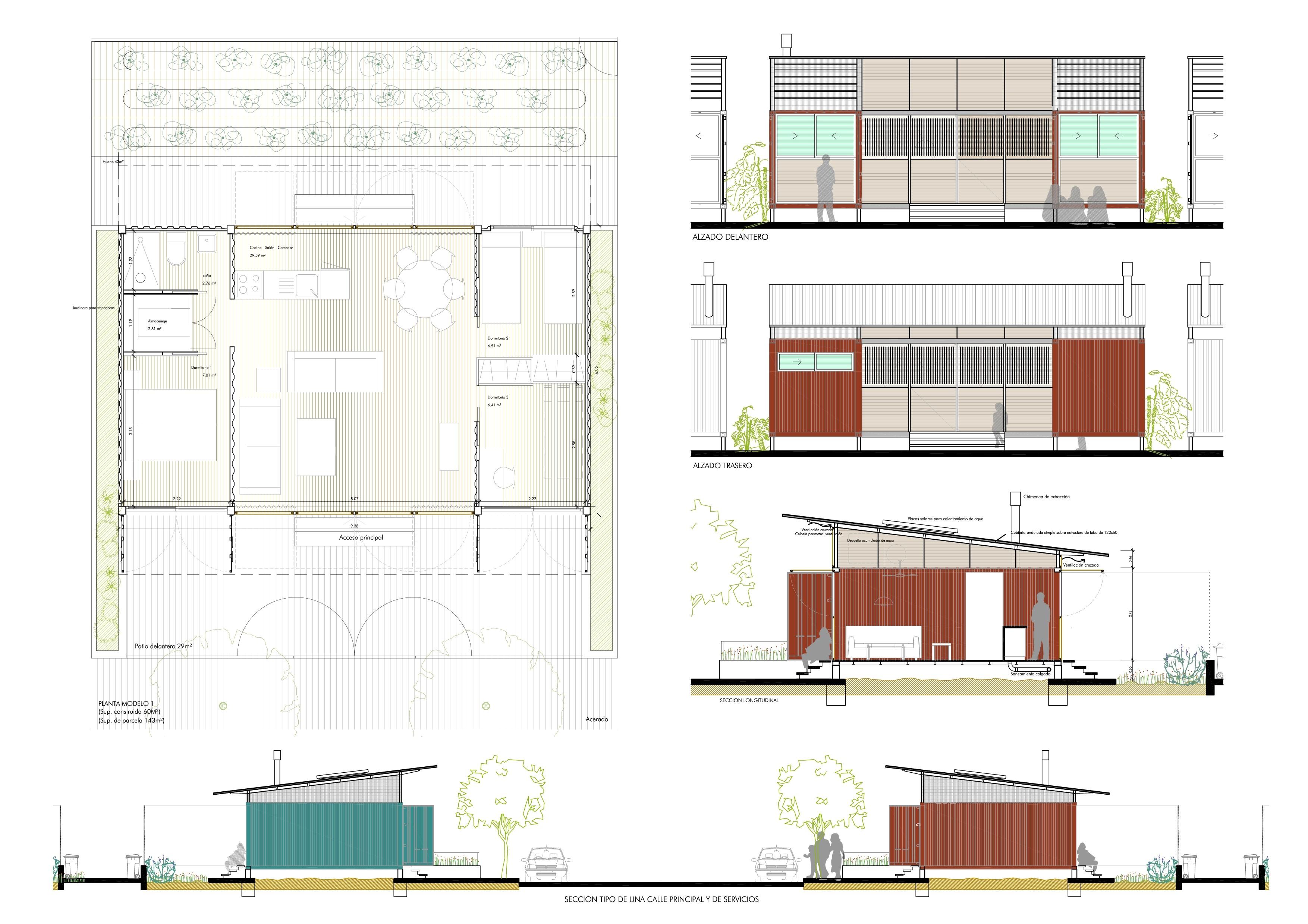 Modulos prefabricados vivienda patio 2 12 vivienda - Modulos prefabricados para viviendas ...