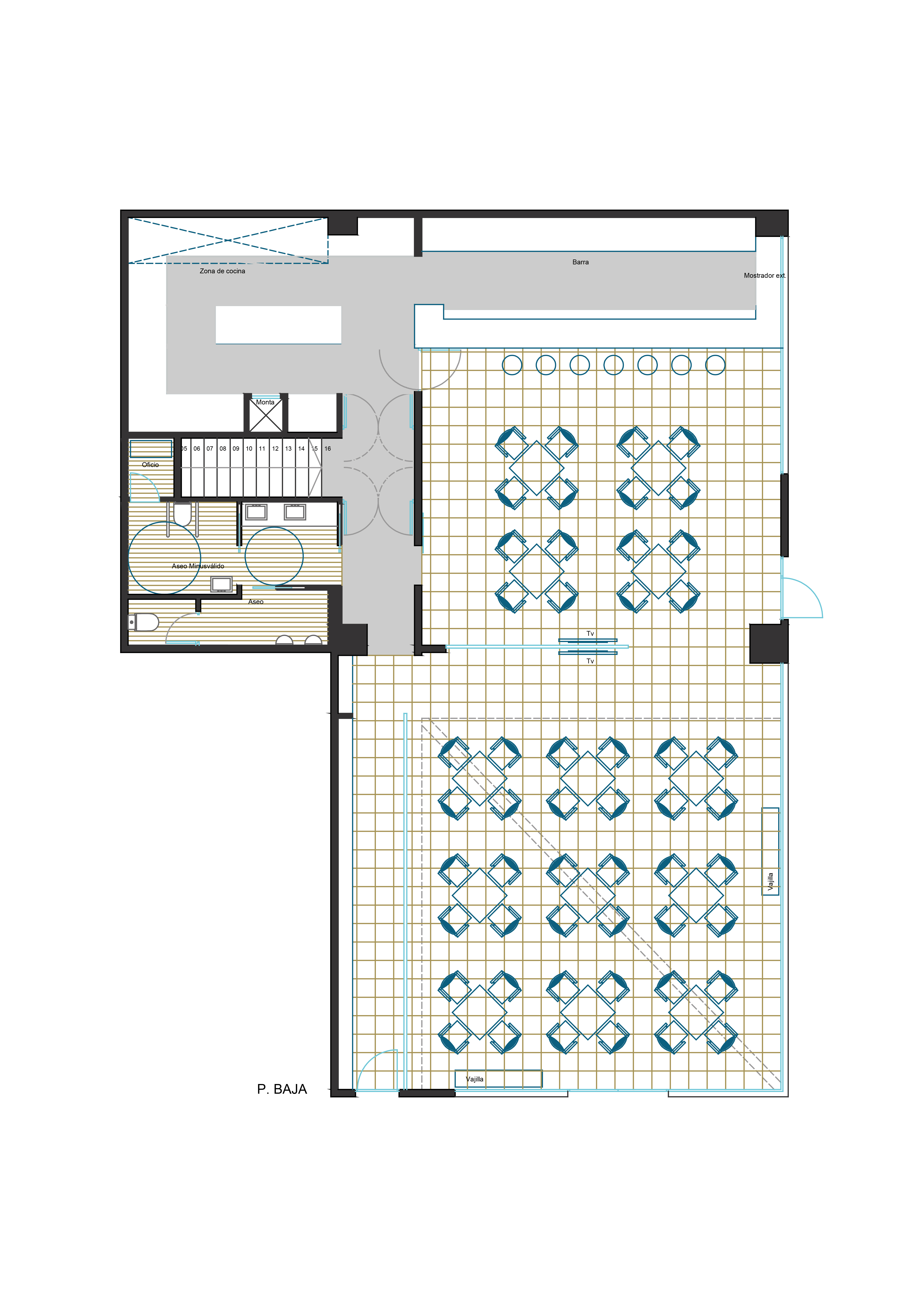 Restaurante boss madrid herrero arquitectos for Restaurante escuela de arquitectos madrid